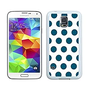 BINGO best quality Polka Dot White and Dark Green Samsung Galaxy S5 Case White Cover