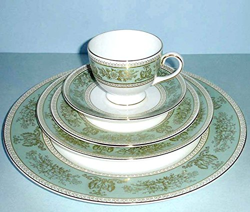 (Wedgwood Prestige Columbia Sage 5 Piece Place Setting Dinnerware Set NEW)