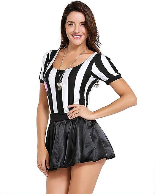 QZ Árbitro Disfraz de Halloween para Mujer Sexy Deportivo Ref Ump ...