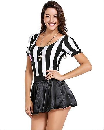 ZQ Disfraz de árbitro para Mujer, Halloween, Sexy, Deportes, Ref ...