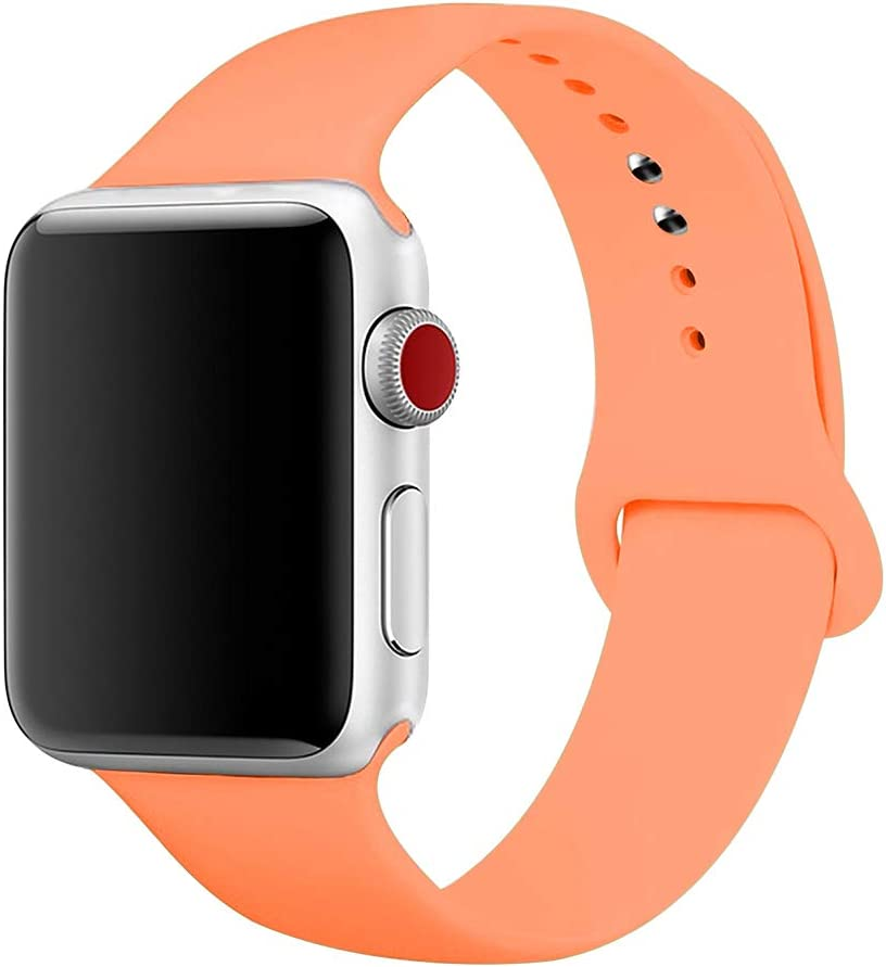 YDEROD Smart Watch Band Compatible with Apple Watch Band 38mm 40mm 42mm 44mm Soft Silicone Sport Strap Replacement Bands for Watch Series 4/3/2/1 S/M M/L