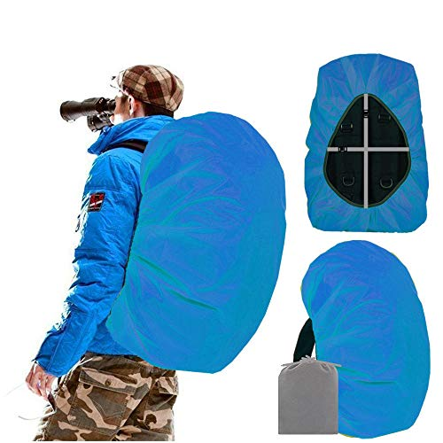 Joy Walker Waterproof Backpack Rain Cover for (15-90L) (Acqua, Large (for 40-55L Backpack)) (Best Place To See Mt St Helens)