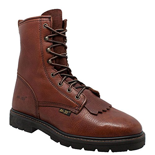 AdTec Mens Chestnut 9in Lacer Work Boots Leather Packer 11 M