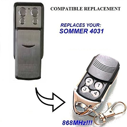 SOMMER 4031 universal transmisor de repuesto mando a distancia, 868.3Mhz rolling code keyfob SOMMER replacement