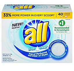 all Free Clear Laundry Detergent Powder (52-Ounce, 6-Case)