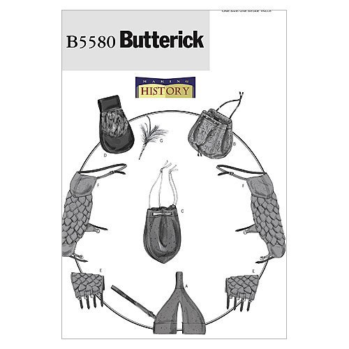 BUTTERICK PATTERNS B5580 Sword Holder, Bags, Pouch, Bracers, Shoulder Covers and Feather Pin, One Size Only