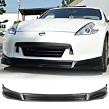 Front Bumper Lip Fits 2009-2012 Nissan Fairlady Z 370Z | SL Style Black PU Front Lip Finisher Under Chin Spoiler Add On by IKON MOTORSPORTS | 2010 2011