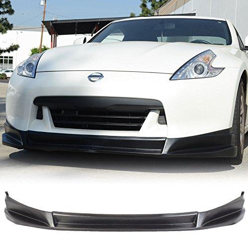Front Bumper Lip Fits 2009-2012 Nissan Fairlady Z 370Z | SL Style Black PU Front Lip Finisher Under Chin Spoiler Add On by IKON MOTORSPORTS | 2010 2011