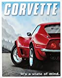 Chevrolet Chevy Corvette State of Mind Retro Vintage Tin Sign