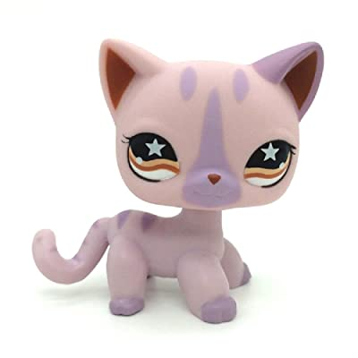 ZAD Rare Light Purple Siamese Short Hair Kitty Cat LPSs #933: Toys & Games