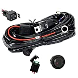 Eyourlife LED Light Bar Heavy Duty Wiring Harness Kit 300W 12V 40A Fuse Relay On/Off Switch Relay Waterproof 14AWG 12FT Wiring Harness