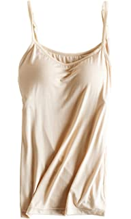 676f600c7bc4f9 PinkWind Bra Padded Cami Tanks Tops for Women at Amazon Women s ...