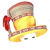 June's Young Elegant Church Hat Satin Hat Brooch Women Hat Fashion Satin Fabric (Yellow)