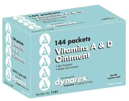 Vitamin A&D Ointment, 5 gram foil packs, 6 boxes of 144/Case