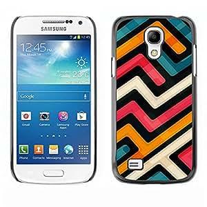 Caucho caso de Shell duro de la cubierta de accesorios de protección BY RAYDREAMMM - Samsung Galaxy S4 Mini i9190 MINI VERSION! - Abstract Funky Modern Blue Orange White