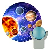 Projectables 11282 LED Plug-In Night Light, Blue and Silver, Light Sensing, Auto On/Off, Projects the Solar System Featuring Mercury, Venus, Earth, Mars, Saturn and Neptune on Ceiling, Wall, or Floor