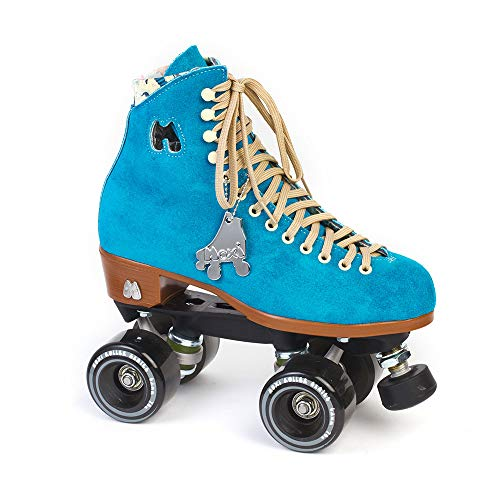 - Moxi Skates - Lolly - Fashionable Womens Quad Roller Skate | Pool Blue | Size 6