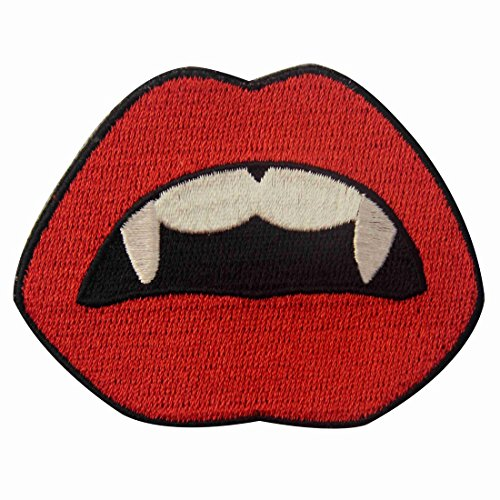 Vampire Mouth Blood Sexy Red Lips Embroidered Applique Iron On Sew On (Diy Vampire Costumes For Women)