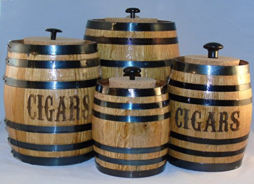 Engraved Cigar Barrel Humidor (X-Large) by Red Head