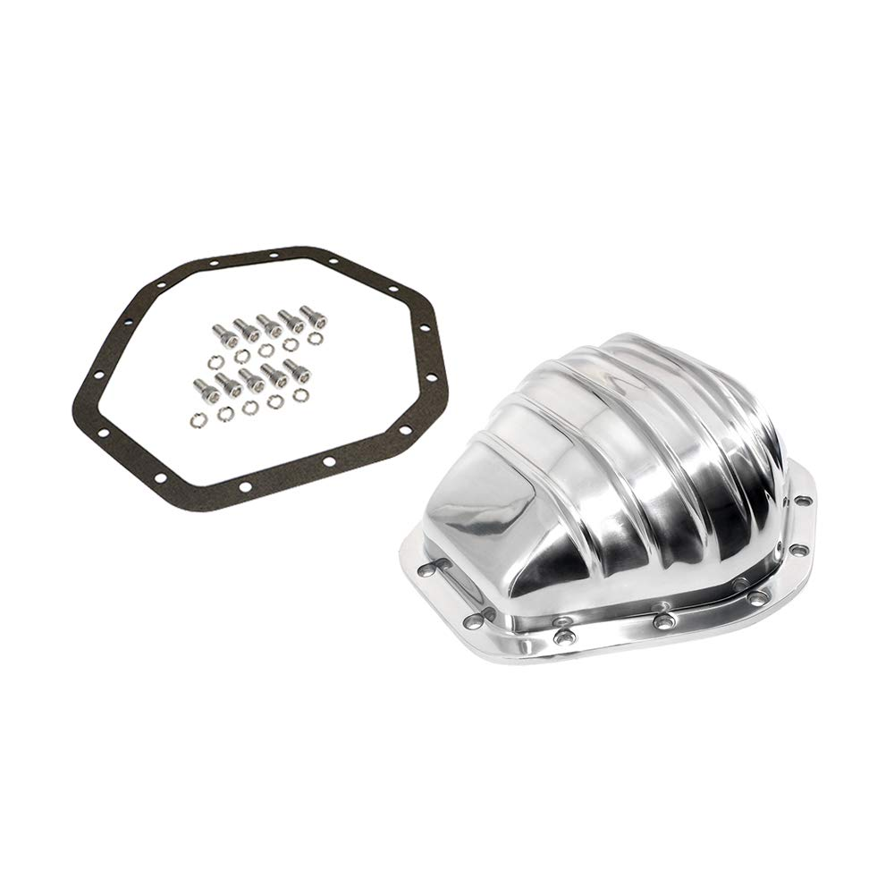 Assault Racing Products A5075KIT GM Truck 14 Bolt 10.5in Ring Gear Polished Aluminum Rear Differential Cover Kit
