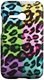 HR Wireless Alcatel One Touch Evolve 2 Rubberized Design Cover Case - Retail Packaging - Colorful Leopard