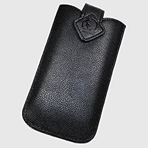 Duragadget-Funda de piel sintética con tapa para MICROSOFT LUMIA, color negro, talla XXL, 550