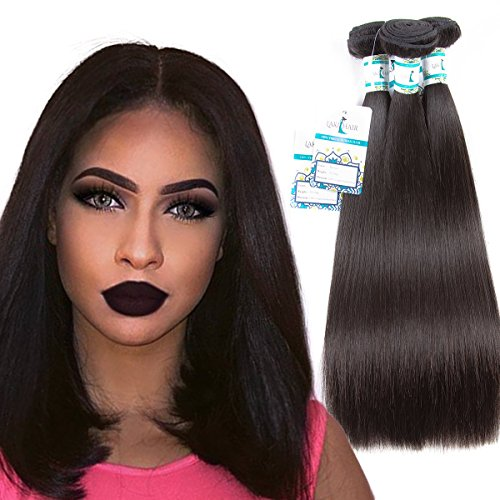 Brazilian Human Straight Hair Bundles 12 14 16 Inch Lakihair Unprocessed Virgin Hair Extensions For Weaving