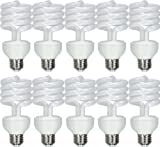 GE Lighting 97134 Energy Smart Spiral CFL 23-Watt (100-watt replacement) 1600-Lumen T3 Spiral Light Bulb with Medium Base, 10-Pack