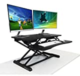 Standing Desk - the 32X DeskRiser - Height Adjustable Sit Stand - Super Sturdy Supports up to 50 Lbs 32'' Wide Sit Stand Up Desk Converter