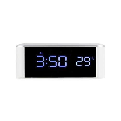 Kongnijiwa Serie Reloj Digital de Escritorio LED de Alarma electrónica del hogar del Reloj del Temporizador