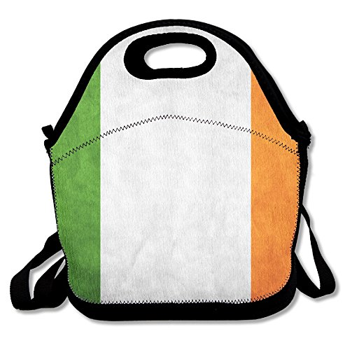 (Irish Flag Of Ireland Lunch Box Bag For Kids And Adult,lunch Tote Lunch Holder With Adjustable Strap For Men Women Boys Girls,This Design For Portable, Oblique Cross,double)