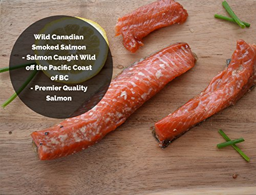 (Wild Caught Double Smoked Salmon Strips Canadian Sockeye Made in BC Canada (1/2 Lbs))