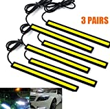 red automotive led light strips - 6PCs Universal Waterproof Car Trucks Daytime Running Light Lamp Super Bright 12V LED Strips COB Car Led Fog Light