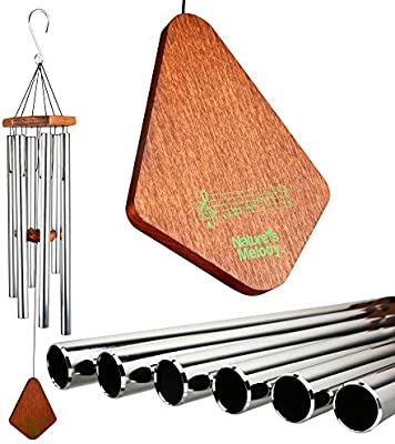 """Nature's Melody Wind Chimes, Great as Sympathy, Memorial, or Bereavement Gifts, Outdoor or Indoor, Men or Women, Beautiful Garden Decor, 36"""" Long"""