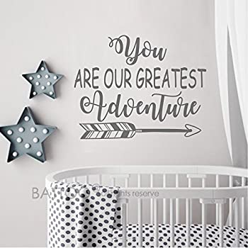 BATTOO You Are Our Greatest Adventure Wall Decal Quote   Nursery Wall Decal    Arrow Wall Part 60