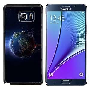 """Be-Star Único Patrón Plástico Duro Fundas Cover Cubre Hard Case Cover Para Samsung Galaxy Note5 / N920 ( Enfriar el planeta Tierra desde el espacio"""" )"""