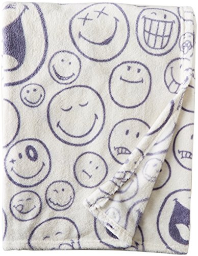 Smiley World 50 x 60 Throw Blanket - Officially Licensed Product Incredibly Soft Plush Incredibly Soft, Very Warm! - blankets-throws, bedroom-sheets-comforters, bedroom - 51%2B6%2BqaxFPL -