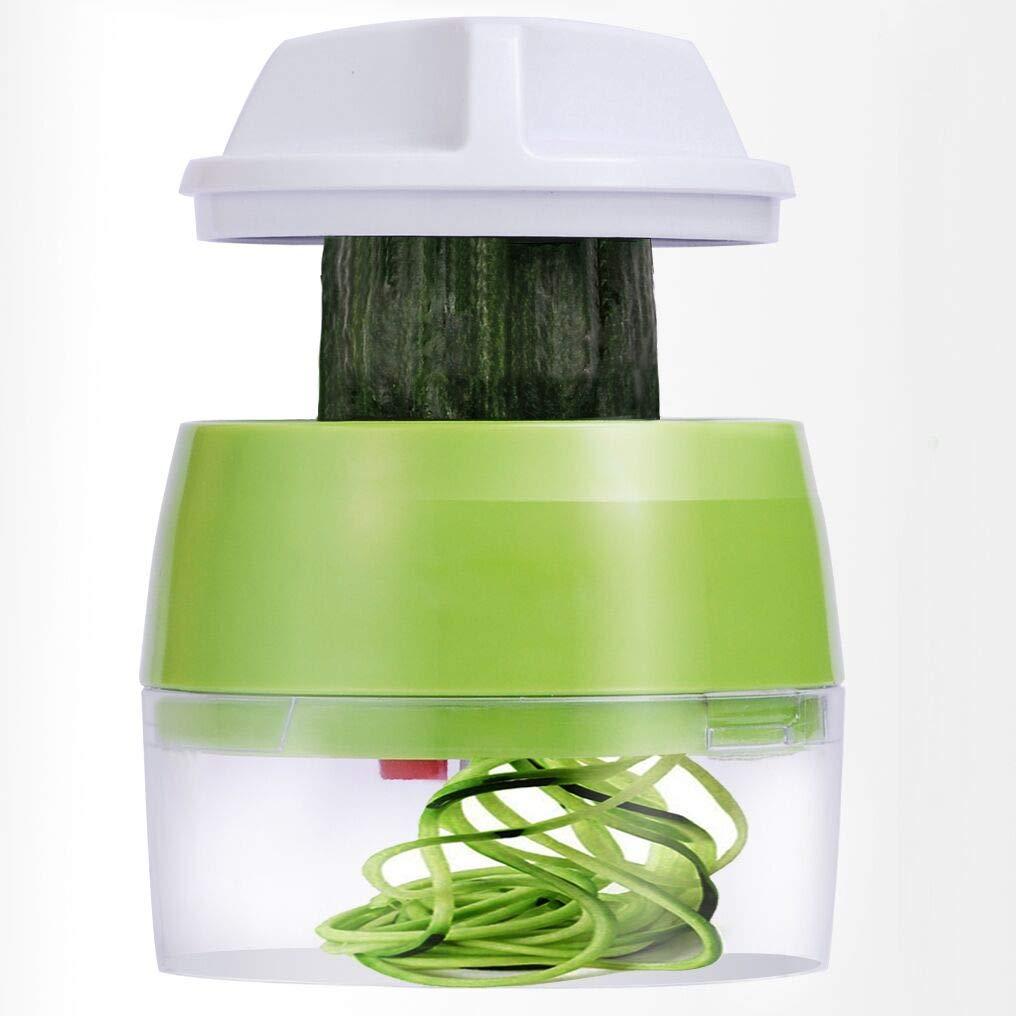 Handheld Spiralizer Vegetable Slicer, 4 in 1 Heavy Duty Veggie Spiral Cutter - Zoodle Pasta Spaghetti Maker by ELIRIVAWET