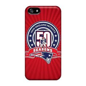 Unique Design Iphone 5/5s Durable Tpu Case Cover Patriots Th Anniversary Football
