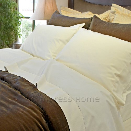 Organic Cotton/Rayon from Bamboo - King Pillowcases Pair - Plain