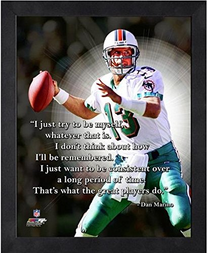 Miami Dolphins Framed Wall - Dan Marino Miami Dolphins ProQuotes Photo (Size: 12