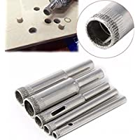 Generic Diamond Coated Core Hole Saw Drill Bit Tools for Tiles Marble Glass (5mm 6mm 8mm 10mm 12mm) - Set of 5