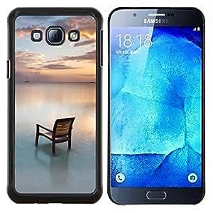 """Be-Star Único Patrón Plástico Duro Fundas Cover Cubre Hard Case Cover Para Samsung Galaxy A8 / SM-A800 ( Silla de playa Mar Océano Sunset Sky"""" )"""