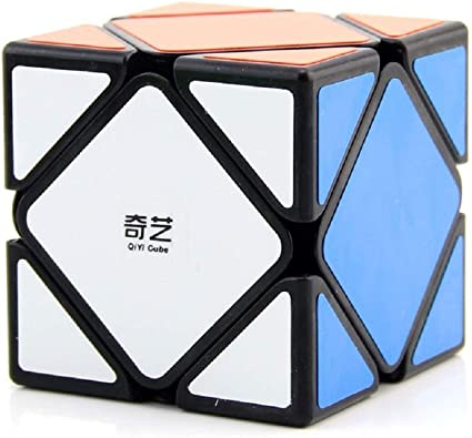 IndiaBuy 3x3x3 QIYI Black Background Rubiks Magic Smooth Speed Cube 3D-Puzzle Cube Recommended for 3-99 yrs (QIYI SKEWB Black Background)