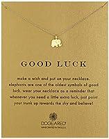 Dogeared Reminder Good Luck Elephant Pendant Necklace