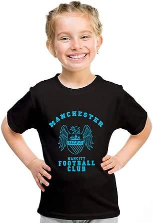 kharbashat Manchester City FC T-Shirt for Girls, Size 38 EU, Black