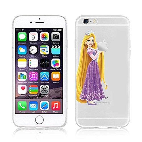 RONNEY'S Disney PRINCESSES Transparent TPU Soft case for Apple Iphone 7 PLUS