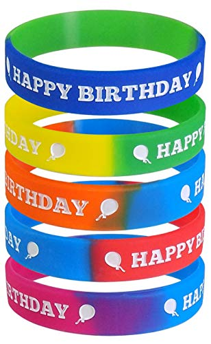 Max Petals Party Pack - Happy Birthday Party Wristbands - Kid's Size (Pack of 25)