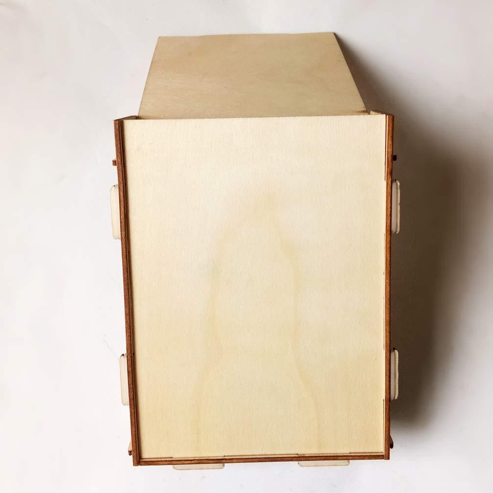 Amosfun Libro de visitas de Madera para Bodas Libro de visitas con Firma de coraz/ón con Caja Mensaje de Amor Regalo de Libro de visitas para Boda Despedida de Soltera