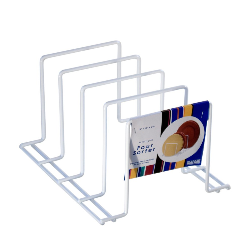 Organized Living 4 Sort Divider - White